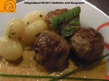 Dänische Fleischbällchen in Currysoße - sydvestjyske kødboller - Rezept