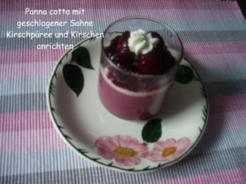 Kirsch - Panna cotta - Rezept