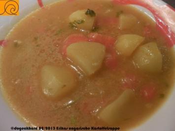 1Topfgericht: Ungarische Kartoffelsuppe mit Karotten und Paprika - Rezept