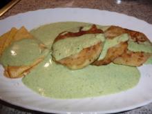 Gemüse: Kohlrabischeiben gebraten an Broccoli-Frischkäsesoße - Rezept