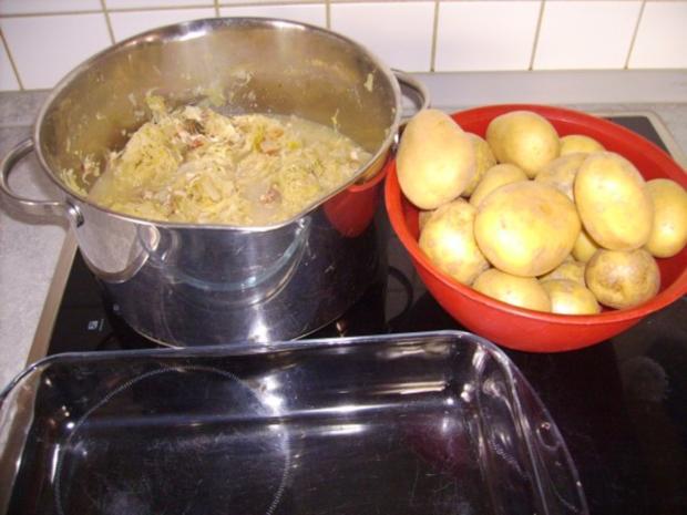 Zwiebel Speck Sauerkraut Kartoffel Gratin - Rezept - Bild Nr. 2