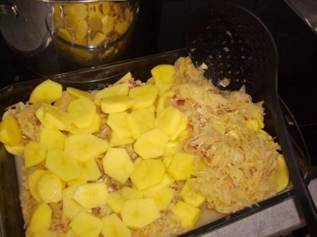 Zwiebel Speck Sauerkraut Kartoffel Gratin - Rezept - Bild Nr. 4