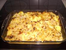 Zwiebel Speck Sauerkraut Kartoffel Gratin - Rezept