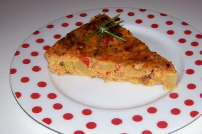 Würziges Ofen-Kartoffel-Omelett mit Pecorino und getrockneten Tomaten - Rezept