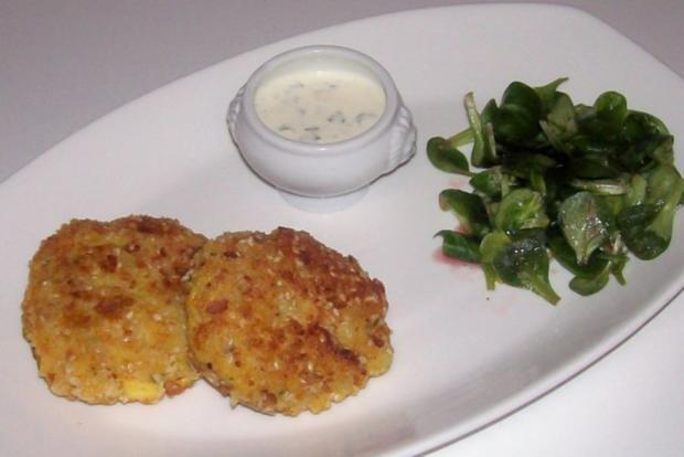 Beilagen/Hauptgericht: Kartoffel-Apfel-Plätzchen mit Aprikosen-Schmand-Dip - Rezept - Bild Nr. 11