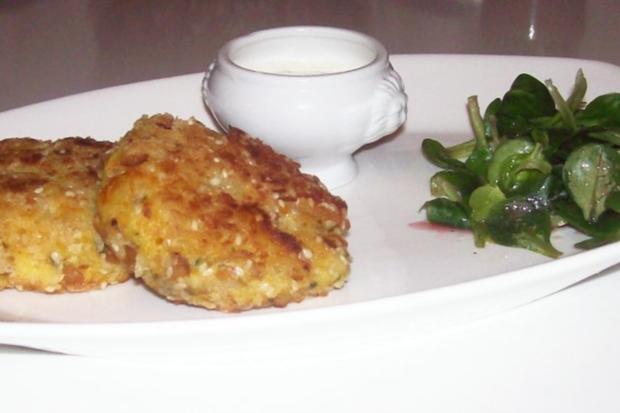 Beilagen/Hauptgericht: Kartoffel-Apfel-Plätzchen mit Aprikosen-Schmand-Dip - Rezept - Bild Nr. 10
