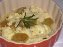 Vorspeise/Abendessen: Aromatische Feta-Weintrauben-Päckchen - Rezept