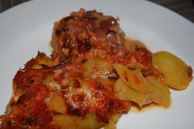 Deftiger Schweinefilet-Kartoffel-Gratin - Rezept
