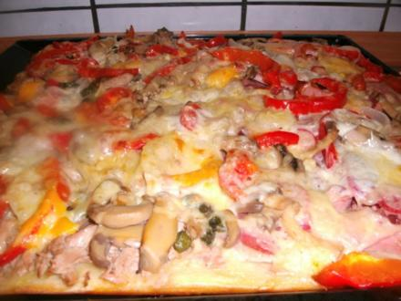 Pizza....kommt immer gut an - Rezept