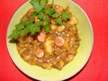 Altbayerisches Erdäpfelgmies aus übriggebliebenen Kartoffelsalat ohne Majo. - Rezept