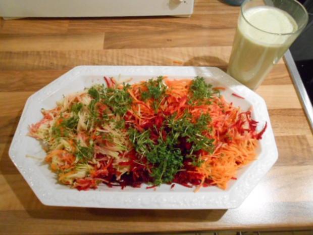 Sommerküche Jamie Oliver : Regenbogensalat mit joghurtdressing rezept kochbar.de