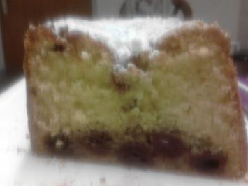 Rezept: Kirschkuchen mit Enteneier  - auch als Kuchen im Glas prima geeignet.