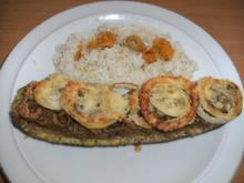 Hauptgericht: Zucchini, gefüllt mit Leberwurst - Rezept