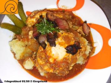 1Topfgericht: Ungarisches Eiergulasch, Tojáspörkölt - Rezept