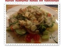 Vegetarisch: Gedämpftes Gemüse mit Rahmchampignons - Rezept