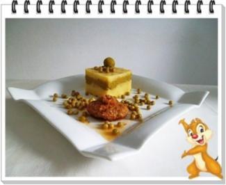 Frikadelle mit Kartoffel-Erbsen Türmchen - Rezept