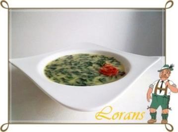 Spinatsuppe mit Kartoffeln - Rezept