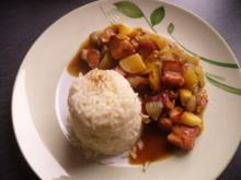 Kasseler Ragout an Reis - Rezept