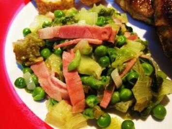 Grüne Erbsen auf französische Art ... - Rezept