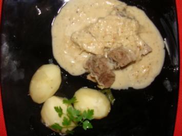 Rezept: Fleisch : Gekochte Ochsenbrust mit Bouillonkartoffeln und Meerrettichsoße