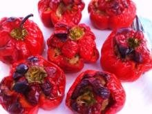 Paprika gefüllt und gefüllte Blätterteigtaschen - Rezept