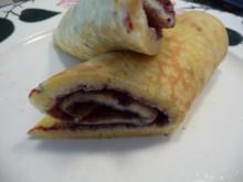 Eierspeisen : Buttermilch-Pfannkuchen mit Heidelbeermarmelade - Rezept