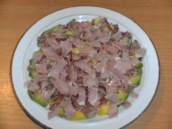 Salat: Avocadosalat mit Schinken - Rezept
