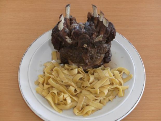 Fleisch: Lammrücken, geschmort - Rezept