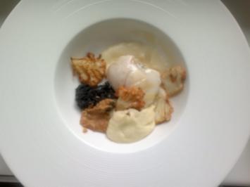 Blumenkohl mit gebratenen Seeteufelbäckchen - Rezept