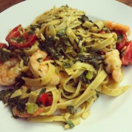 Scampi e spinaci al vapiano - Rezept