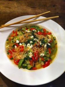 Chinesische Nudelgemüse-Suppe - Rezept