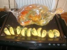 Kräuterhähnchen im Bratschlauch und mit Rosmarinkartoffeln - Rezept