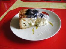 Quark - Torte mit zwei Sorten Weintrauben - Rezept