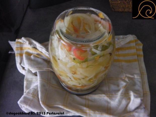 ungarischer hausgemachter, eingemachter Pustasalat - Rezept - Bild Nr. 8