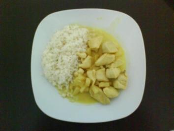 Putenpfanne mit Curry und Ananas - Rezept