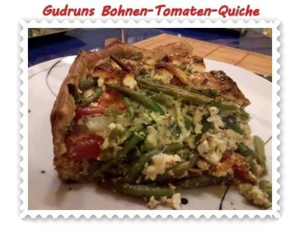 Quiche: Bohnen-Tomaten-Quiche - Rezept