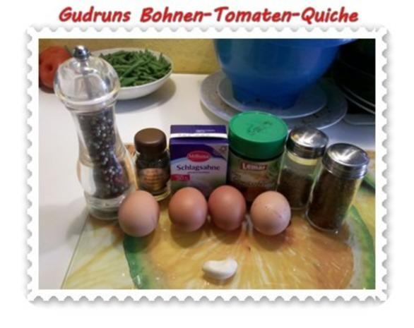 Quiche: Bohnen-Tomaten-Quiche - Rezept - Bild Nr. 3