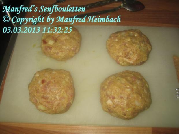 Hackfleisch - Manfred's Senfbouletten - Rezept - Bild Nr. 4