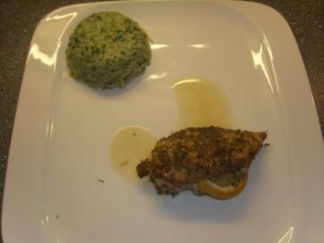 Mediterrane Hühnerbrüste mit Spinatreis - Rezept
