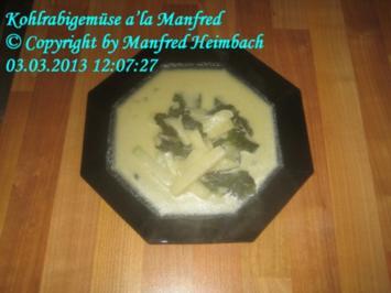 Gemüse – Kohlrabigemüse a'la Manfred - Rezept