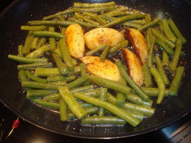 Rouladen mit Bohnen und Kartoffeln - Rezept - Bild Nr. 2