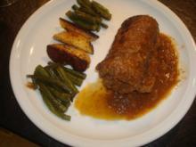 Rouladen mit Bohnen und Kartoffeln - Rezept