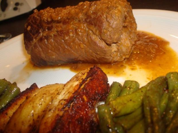Rouladen mit Bohnen und Kartoffeln - Rezept - Bild Nr. 3