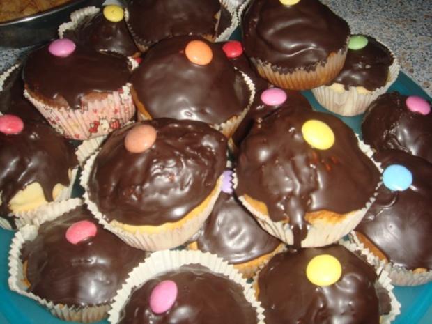 Joghurt - Muffins mit Smarties - Rezept