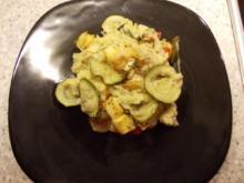 Polenta-Auflauf mit Zucchini und Grillkäse - Rezept