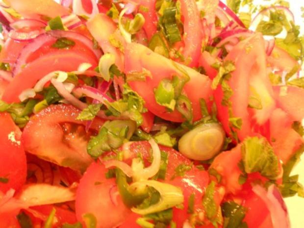 Tomatensalat auf afghanische Art - Rezept - Bild Nr. 2
