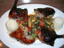 Gelackte Ente aus dem Ofen mit Bratgemüse - asiatisch angehaucht - Rezept