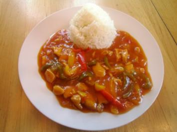 Hühnergeschnetzeltes mit Paprika - Rezept