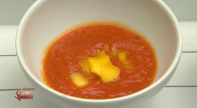 Delicia Tropical - Tomaten-Mango Suppe mit Brot (Fernanda Brandao) - Rezept