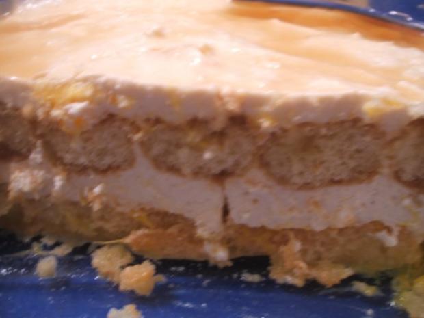 Dessert Schneller Orangenquark Auf Loffelbiskuit